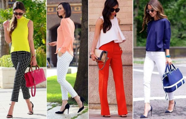 Облегающие брюки могут быть немного укороченными