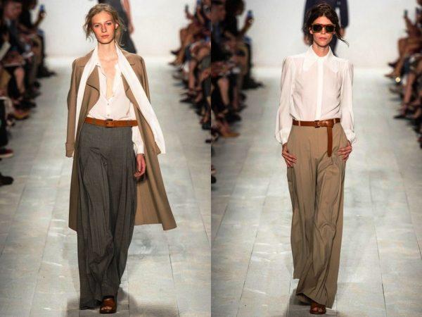 Широкие брюки набирают все большую популярность