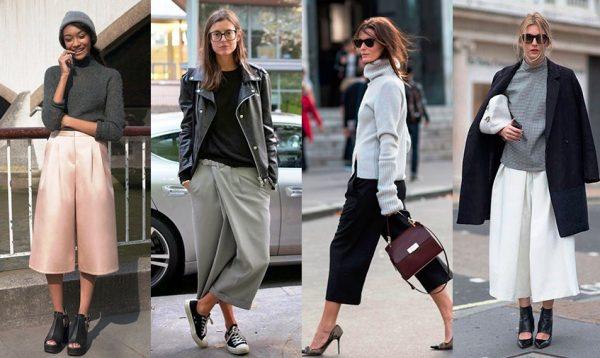 Широкие укороченные брюки больше подойдут молодым девушкам