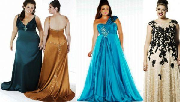Вечерние платья для полных девушек должны быть ярких цветов