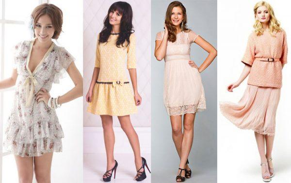 В одежде женственность создается с помощью характерных тканей, предметов гардероба, фасонов, цветов и стилей.