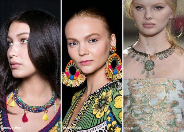 Модные украшения весна лето 2018