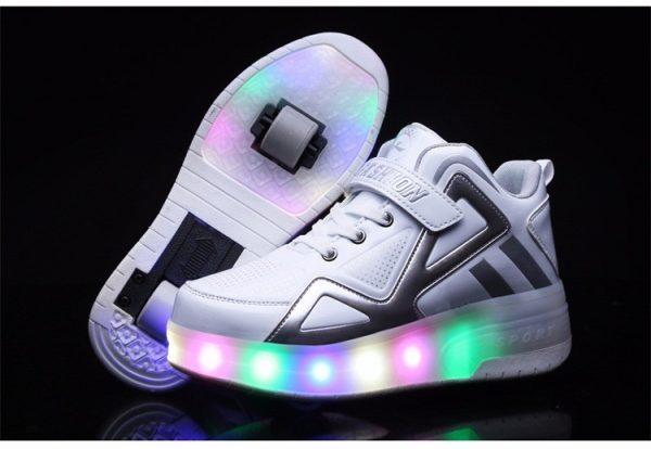 светящиеся роликовые кроссовки