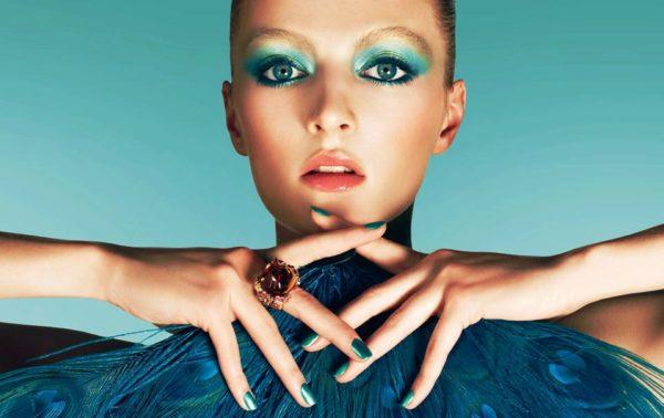 Мятный макияж от Christian Dior