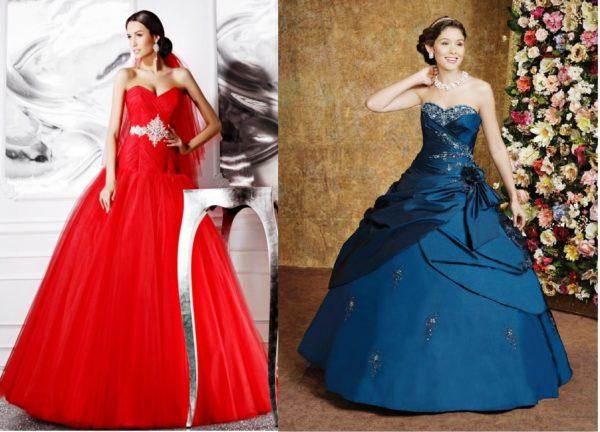 На сегодняшний день свадебные платья ярких цветов очень популярны