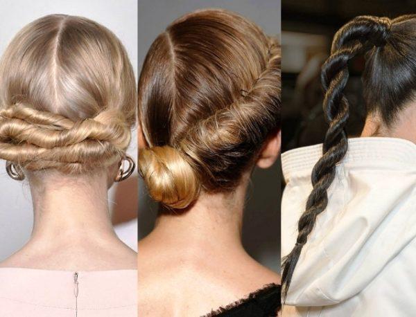 Прическа жгуты на длинные волосы