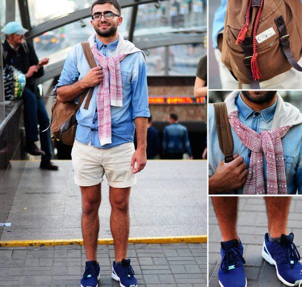 Спортивная обувь, рюкзак и шорты - самое удачное сочетание