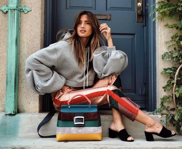 девушки с модными сумками 2019