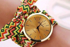 Ни что так элегантно не смотрится на руке как часы Geneva с тканевым ремешком