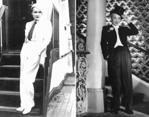 Женский образ мужском стиле Марлен Дитрих