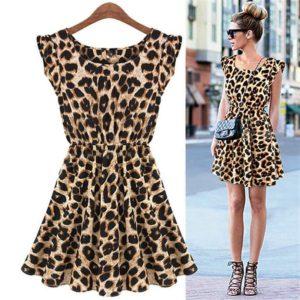 Платье в леопардовом стиле
