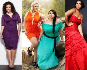 Одежда для девушек с пышными формами должна подчеркнуть достоинства и скрыть недостатки