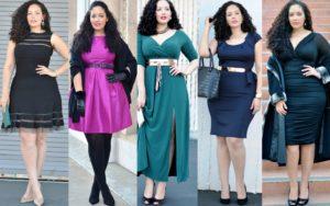 В выборе одежды с широкими бедрами подойдут различные юбки