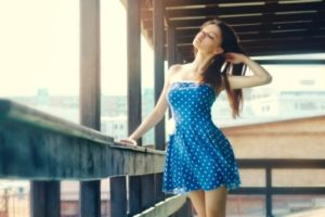 Женщины маленькго роста - одежда в горошек эта ваш выбор