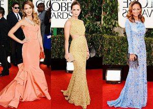 Фасон платьев в голливудском стиле исполнен в виде «хвоста русалки»