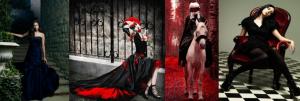 Основная расцветка стиля Вамп это — черный и красный