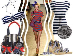 Морской стиль одежды - строгий ритм трёх цветов: синий, белый, красный