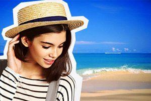 Шляпа-канотье модный аксессуар в морском стиле