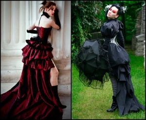 Яркие элементы готического стиля в одежде