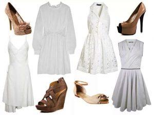 С чем носить маленькое белое платье