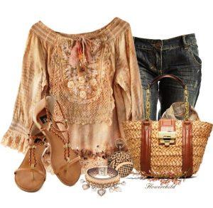 С чем сочетать блузы в бохо стиле