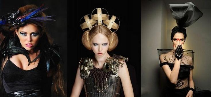 Аксессуары в авангардном стиле изготавливаются из пуговиц, аппликации из молний и замочков, металлических и пластиковых деталей