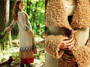 Вязаные пальто в стиле бохо – это сезонная верхняя одежда, созданная для женщин, желающих выделиться из серого потока