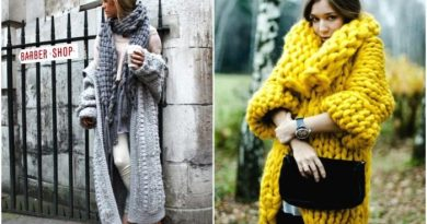 Вязаные пальто в стиле бохо