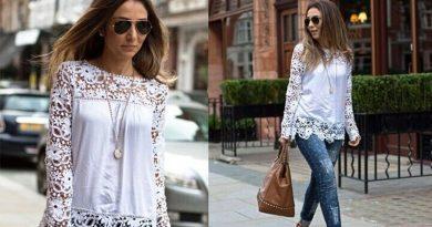 Блуза в бельевом стиле