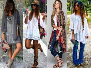Смесь модного течения хиппи, цыганщины, кантри создают роскошный богемный стиль в одежде