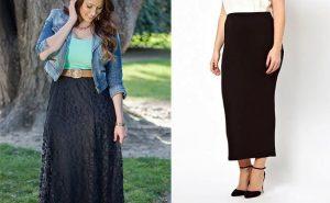 В этом сезоне длинные юбки в пол для полных шьют из тканей, которые держат форму