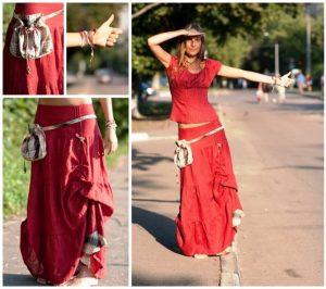 Асимметричные юбки в бохо стиле шьются только из натуральных тканей