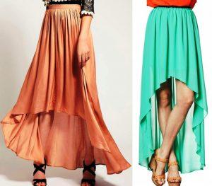 Ассиметричные длинные юбки в греческом стиле подходят для торжественных случаев