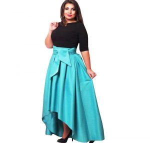 Зная тип своей фигуры можно без труда подобрать себе ассиметричную длинную юбку