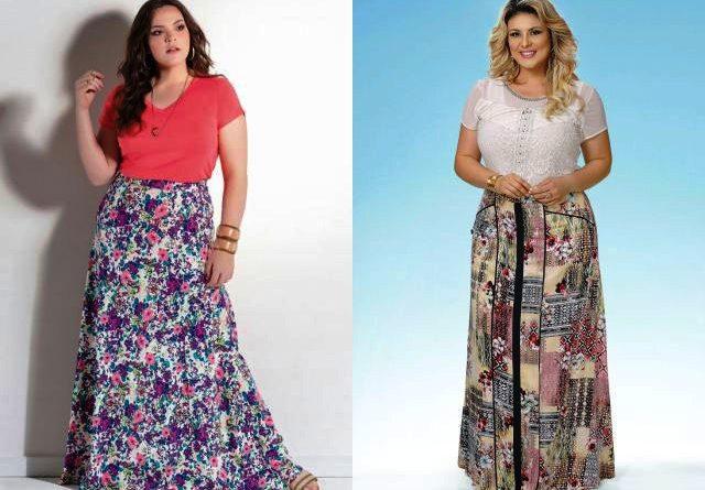 С чем носить летом длинную юбку полным женщинам