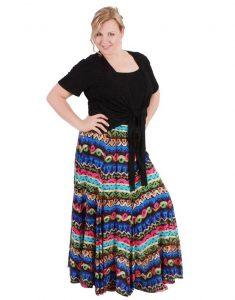 Легкие ткани в длинных юбках для полных девушек скроют нежелательные складки