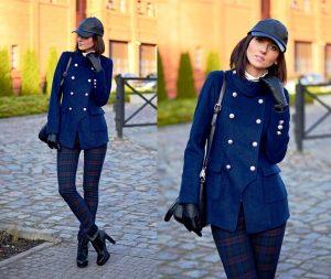 Короткие фасоны женского пальто в стиле милитари смотрятся ненавязчиво для теплой осени и поздней весны