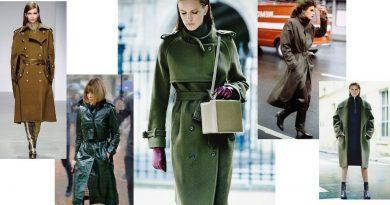 Женское пальто в стиле милитари