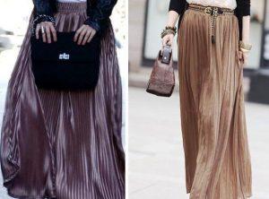 Длинная юбка с плиссировкой станет многофункциональным дополнением гардероба у любой дамы, если уметь совместить ее с грамотно подобранными вещами