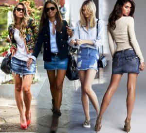 Короткая джинсовая юбка привлекает внимание, что не уместно на серьезных и общественных мероприятиях