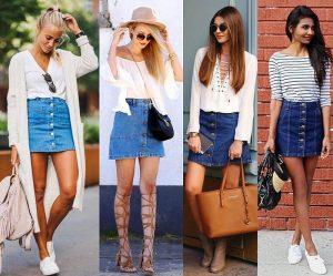 Короткая юбка из денима всегда на пике популярности, но чтобы не выглядеть девушкой из 90-х, прислушайтесь к нашим стильным советам – мы подскажем, с чем носить короткую джинсовую юбку так, чтобы не выглядеть вызывающе или вульгарно
