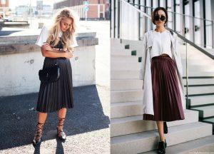 Плиссированная юбка средней длины - универсальная вещь, она подходит для любого мероприятия