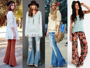 Расклешенные джинсы - одна из основных составляющих стиля хиппи