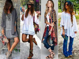 Стили бохо и хиппи легко спутать, но одежда в стиле хиппи более легкая и свободная