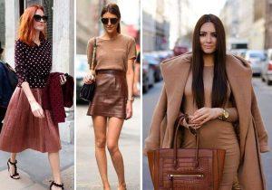 Сочетание коричневого цвета с его оттенками всегда создает теплый свежий и легкий образ