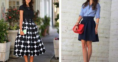 С чем носить юбку колокольчик