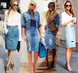 Удачное сочетание джинсовой юбки-карандаш с другими вещами поможет вам создать много стильных образов