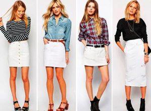 Белая юбка выглядит нарядно и свежо и станет прекрасным дополнением летнего гардероба, но белый зрительно полнит, поэтому отнестись к выбору вещи белого цвета надо внимательно — не всем она пойдет