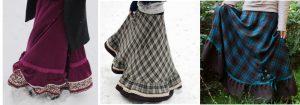 У теплых длинных юбок в стиле бохо большой выбор разных моделей