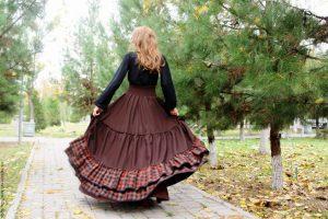 Теплые юбки в стиле бохо, как нельзя лучше подходят для осеннего образа